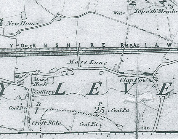 Clap Row, Darcy Lever - 1847 OS Map