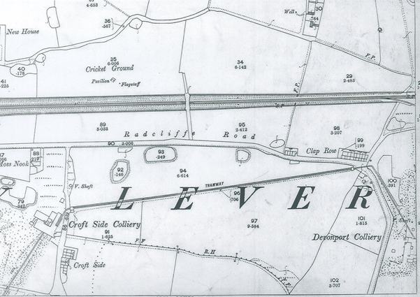 Clap Row, Darcy Lever - 1893 OS Map