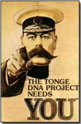 The Tonge Family DNA Project Needs YOU!