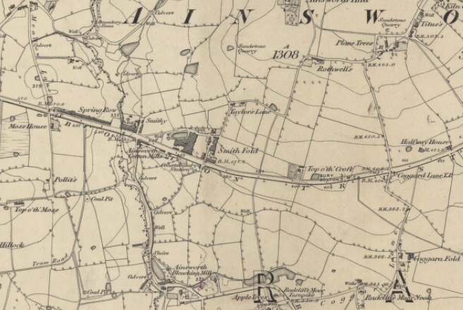 Map showing Smith Fold in Ainsworth