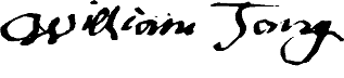 William Tong - Signature 1720